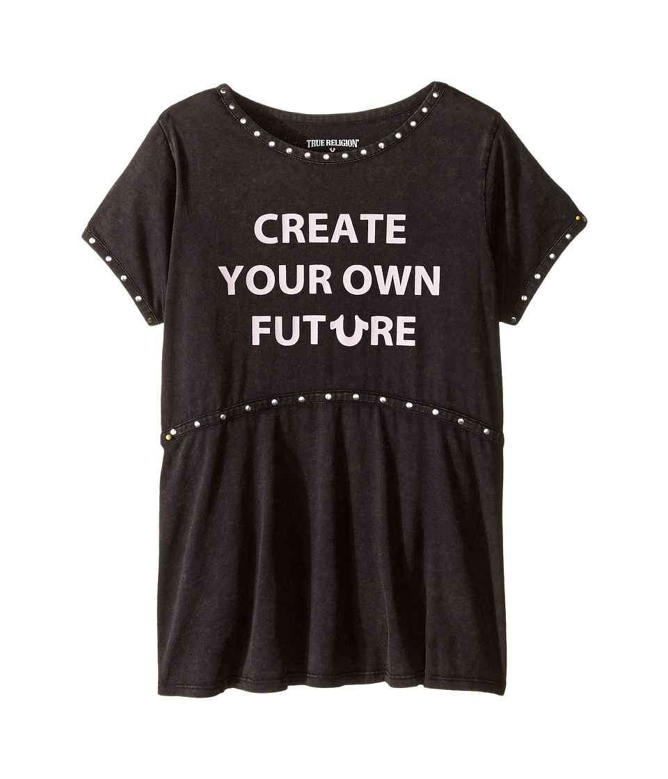 True Religion Kids - Studded Future Tee Shirt (Little Kids/Big Kids) (Black) Girl's T Shirt