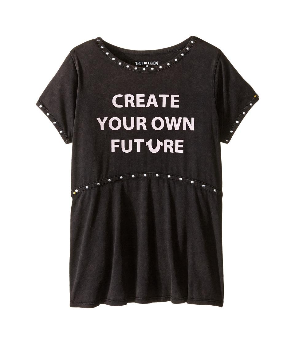 True Religion Kids - Studded Future Tee Shirt (Little Kids/Big Kids) (Black) Girl's T Shirt