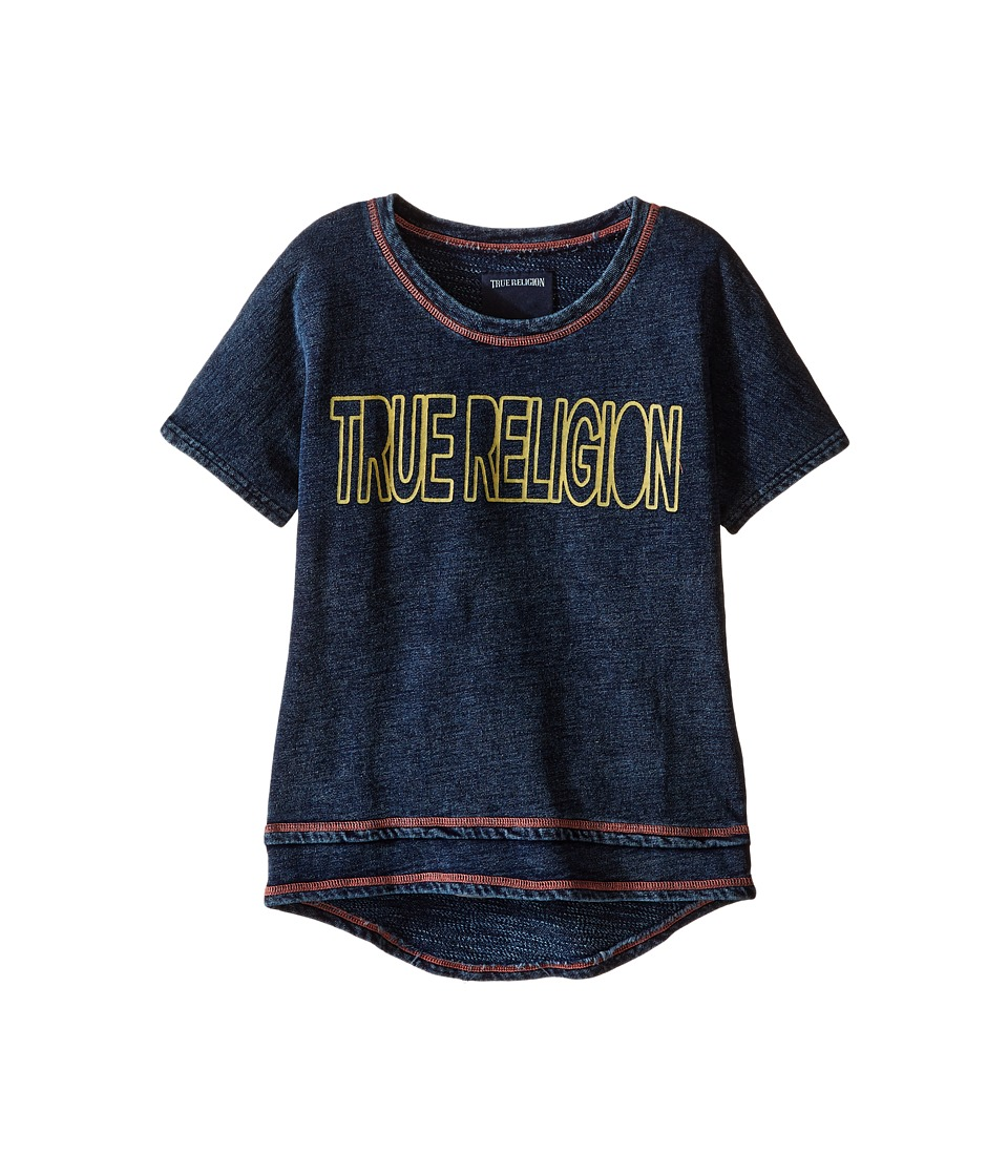 True Religion Kids - Layered Dolman Tee Shirt (Toddler/Little Kids) (Midnight/Mineral Wash) Girl's T Shirt