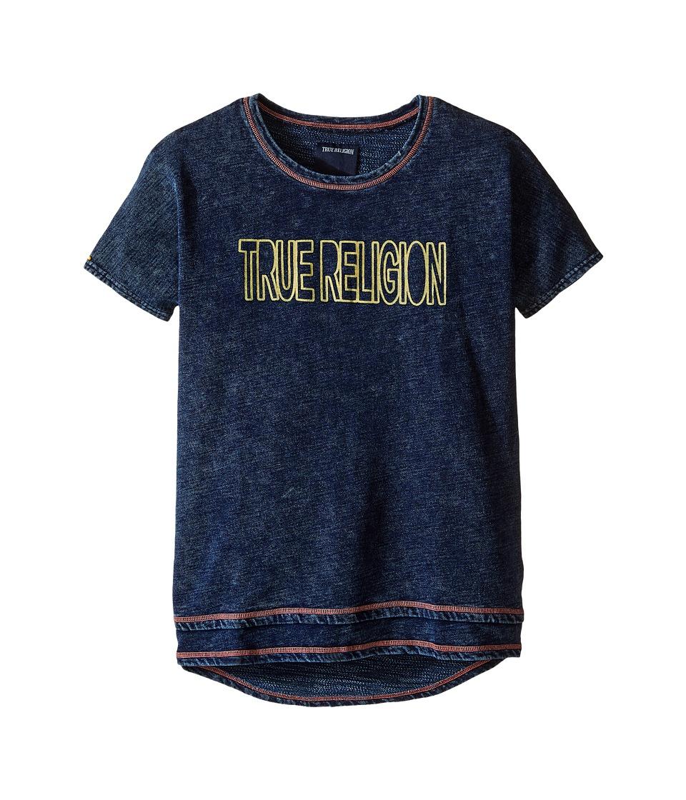 True Religion Kids Layered Dolman Tee Shirt (Little Kids/Big Kids) (Midnight/Mineral Wash) Girl