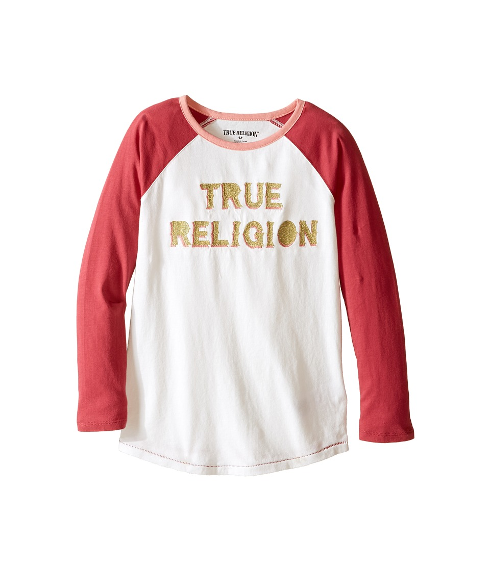 True Religion Kids - Long Sleeve Raglan Tee Shirt (Toddler/Little Kids) (Moonshine) Girl's T Shirt