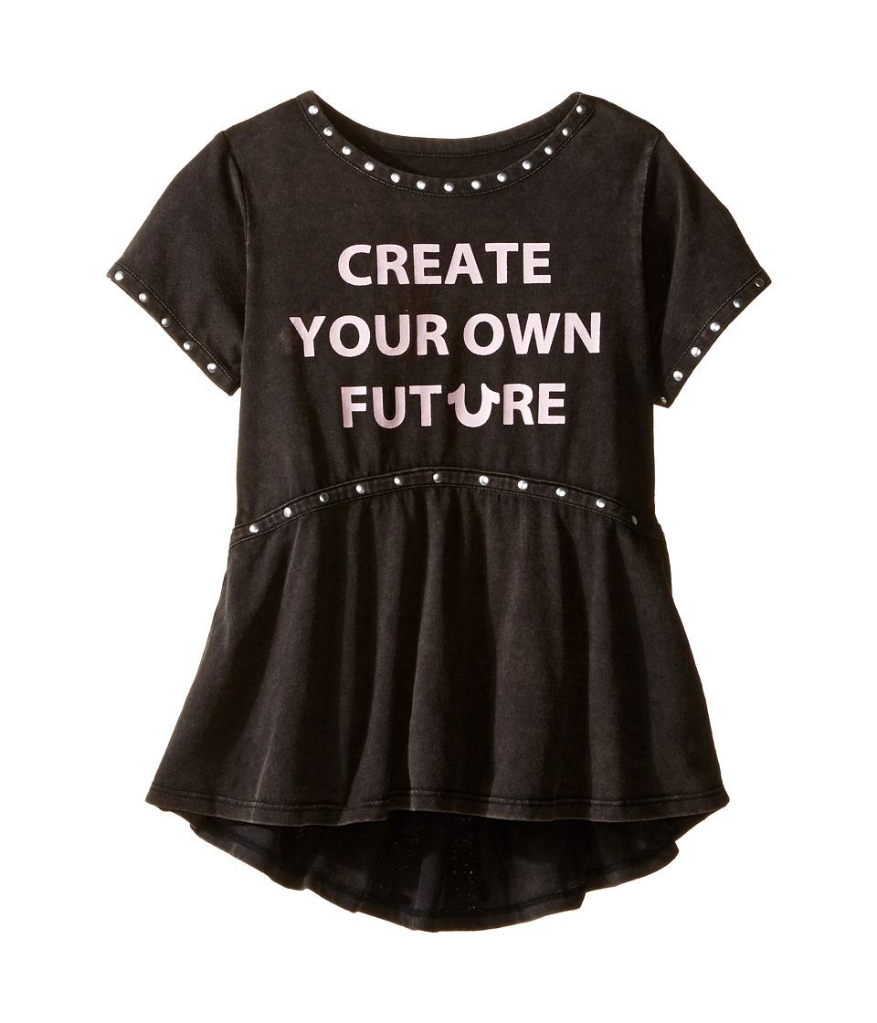 True Religion Kids - Studded Future Tee Shirt (Toddler/Little Kids) (Black) Girl's T Shirt