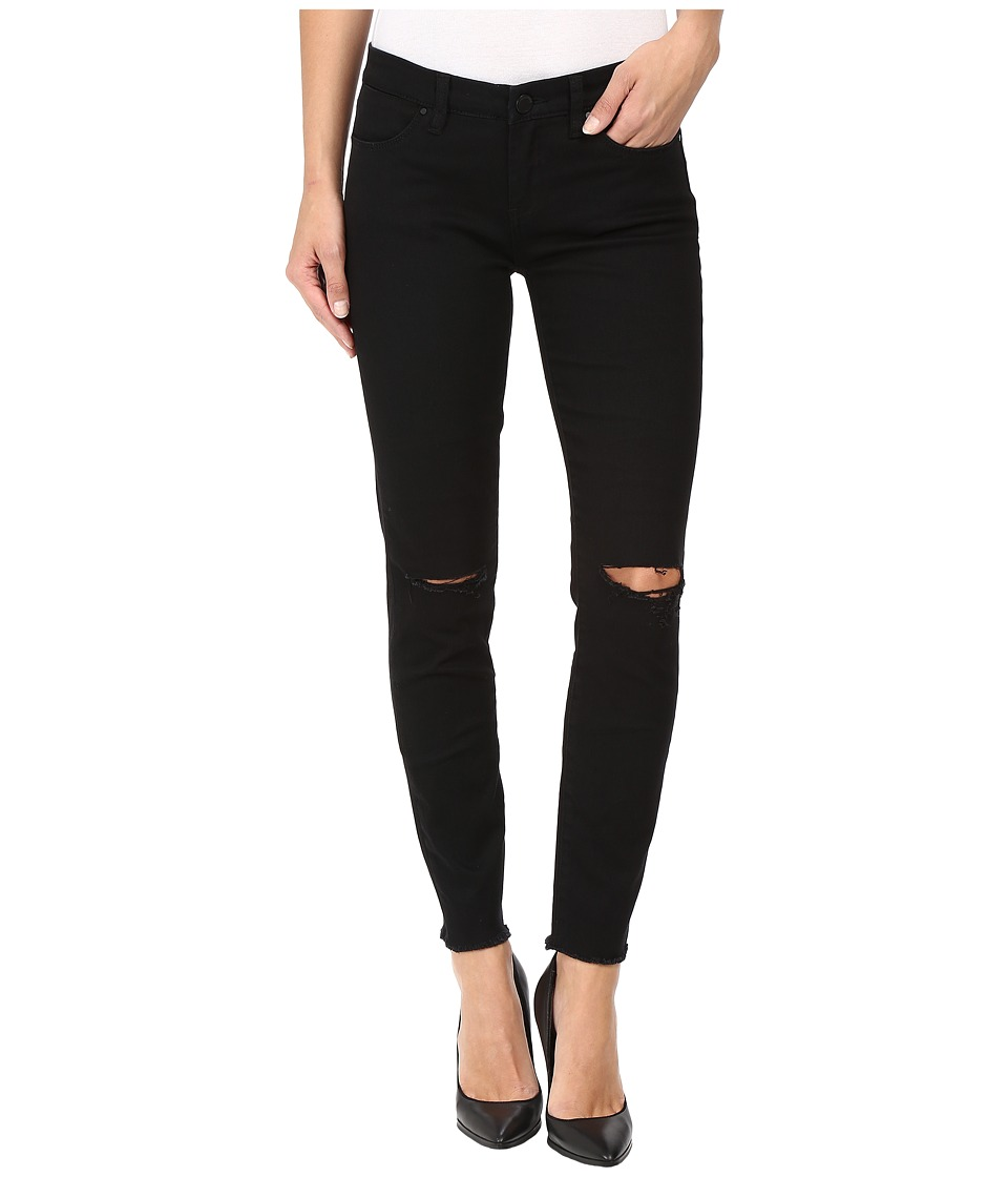 Blank NYC - Crop w/ Ripped Knees in Crazy Train (Black) Women's Jeans