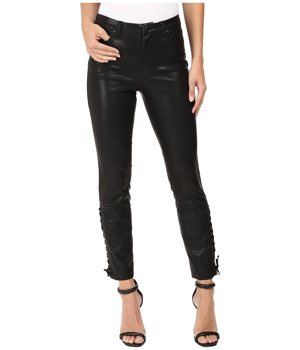 Blank NYC Vegan Leather Lace-Up Skinny in With Friends (Black) Women
