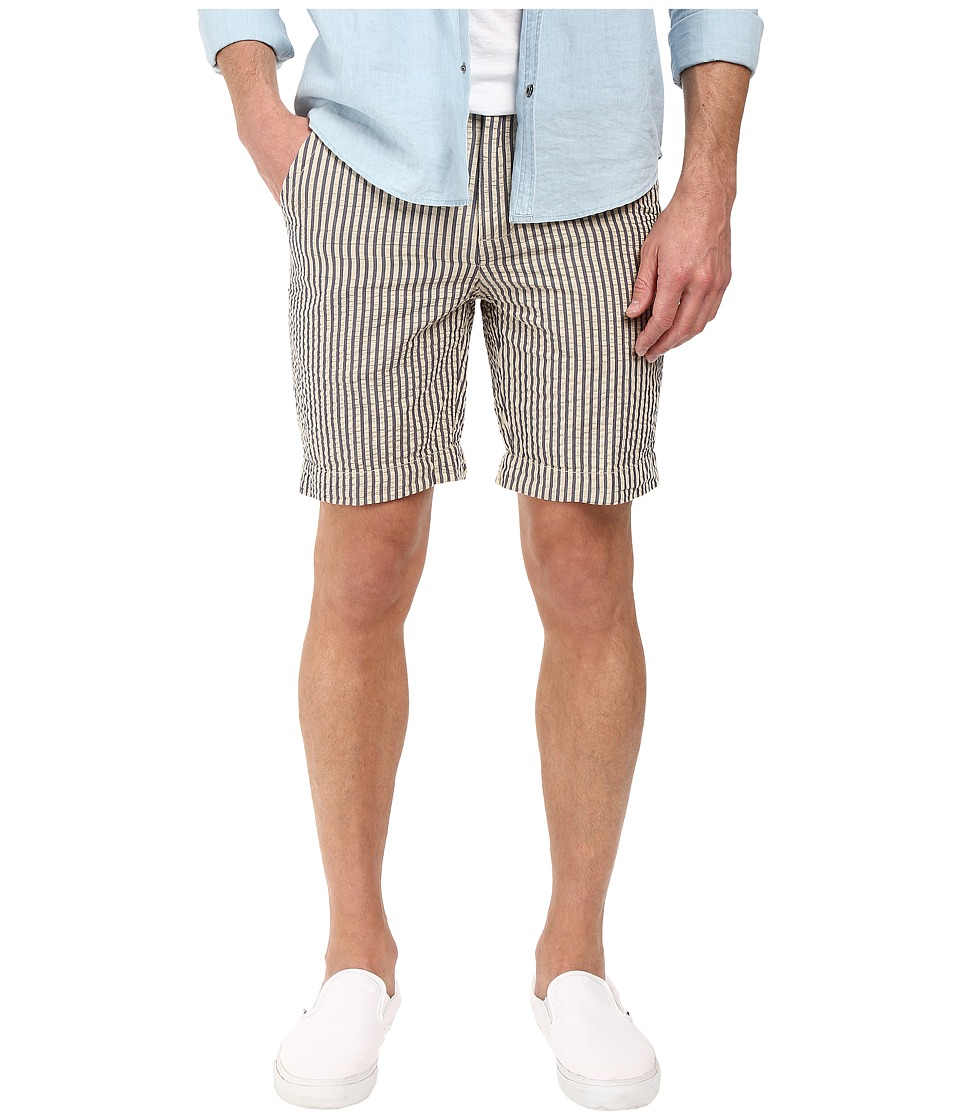 Vintage 1946 - Vintage Seersucker Shorts (Navy) Men's Shorts