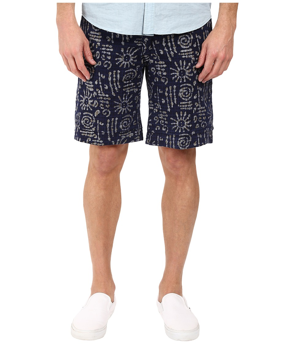 Vintage 1946 - Reversible Batik Shorts (Blue) Men's Shorts