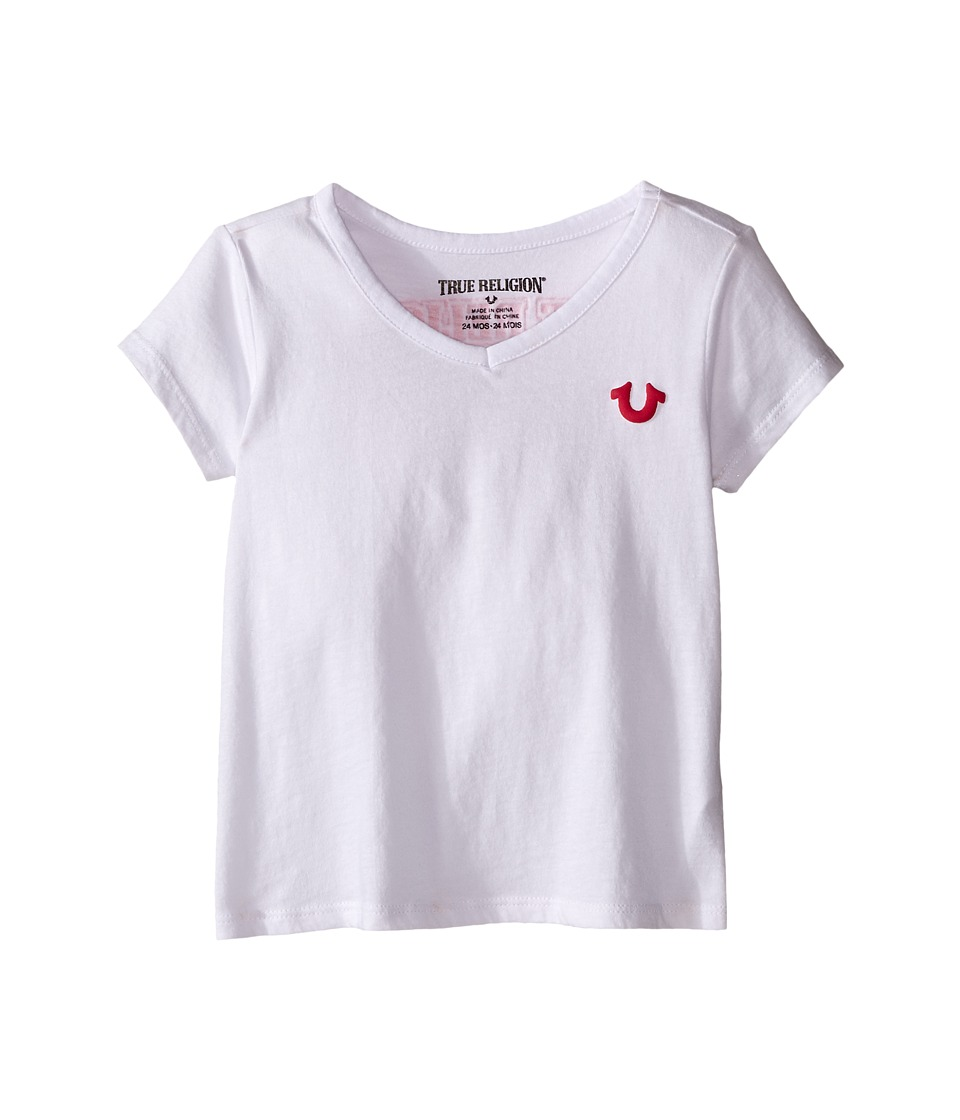True Religion Kids Branded Logo Tee Shirt (Infant) (White) Girl