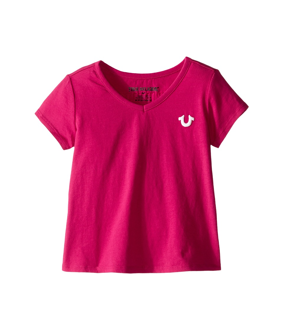 True Religion Kids Branded Logo Tee Shirt (Infant) (Fuchsia) Girl