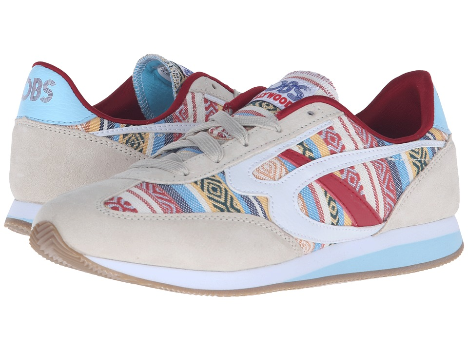 BOBS from SKECHERS Sunset Boardwalk Babe (Natural/Turquoise) Women