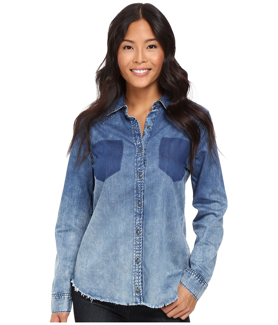 Blank NYC - Denim Shirt in Float On (Blue) Women's Clothing