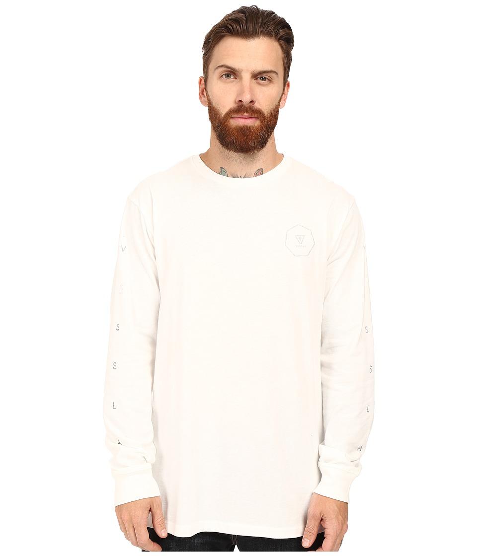 VISSLA - Forecast Pigment Dyed 30 Singles Long Sleeve Crew (Vintage White) Men's Clothing