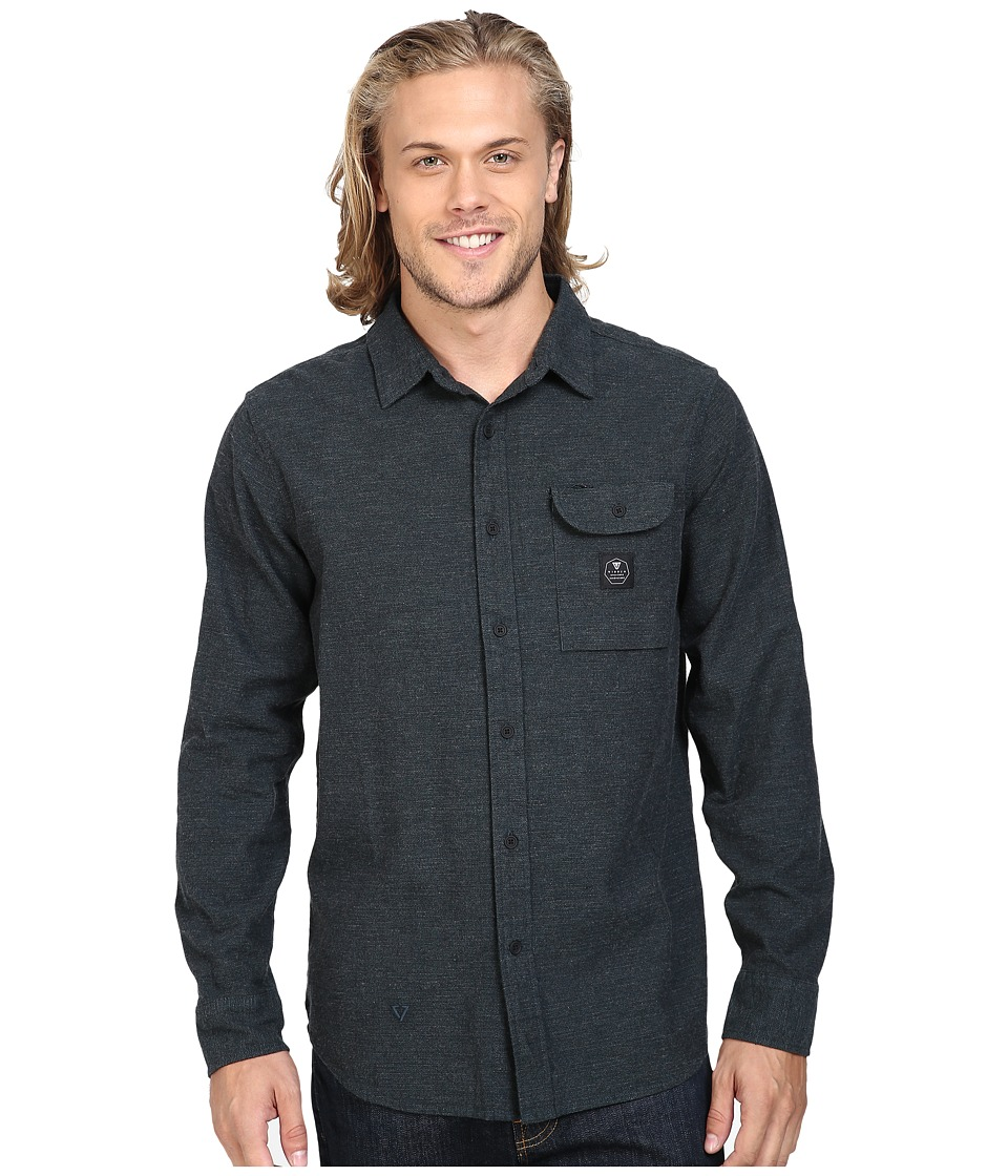 VISSLA - Seaweed Long Sleeve Yarn Flannel (Marine) Men's Clothing