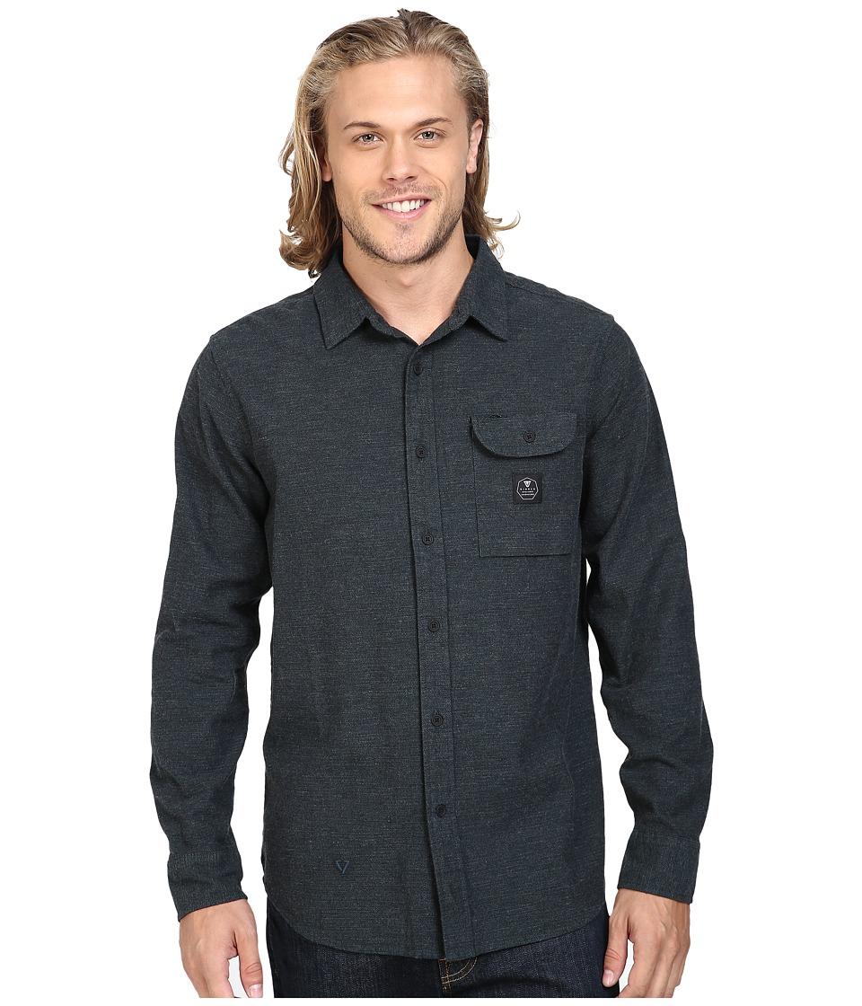VISSLA - Seaweed Long Sleeve Yarn Flannel (Marine) Men's Clothing