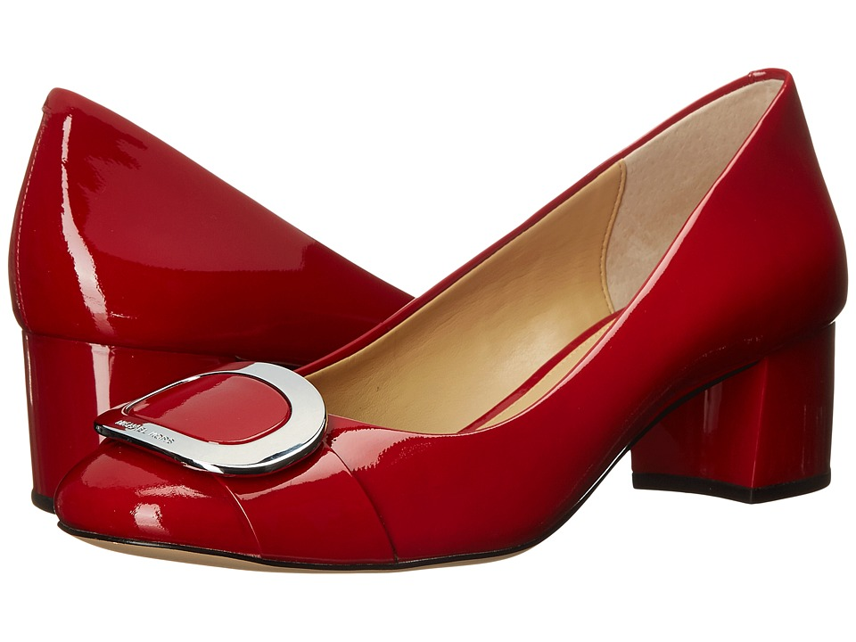 MICHAEL Michael Kors - Pauline Mid Pump (Red Patent) Women's Shoes
