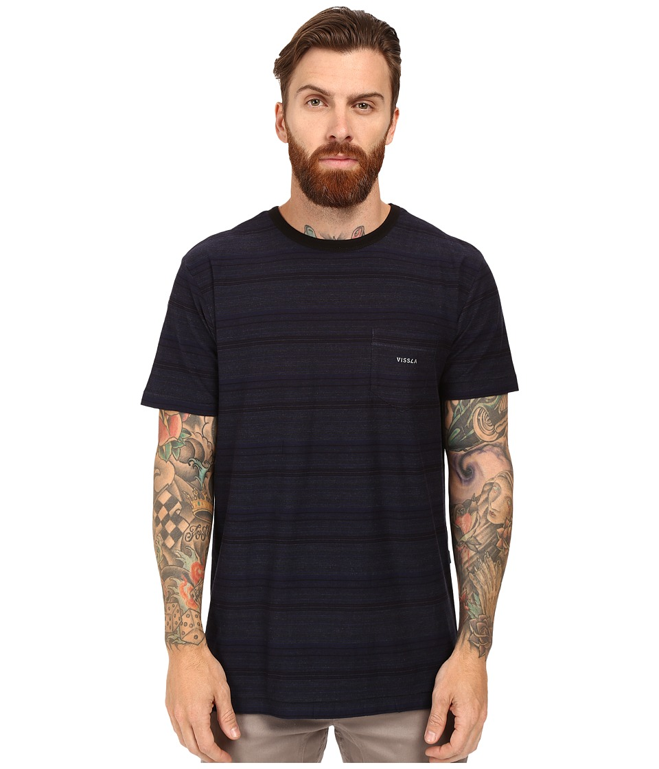 VISSLA - Sognar Short Sleeve Pocket Tee Slub Jersey (Indigo) Men's T Shirt