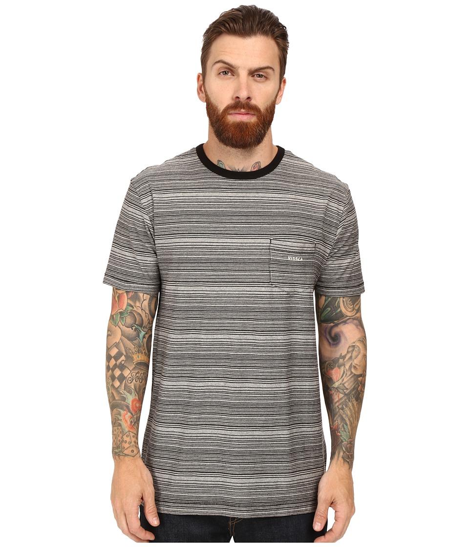 VISSLA - Sognar Short Sleeve Pocket Tee Slub Jersey (Black) Men's T Shirt