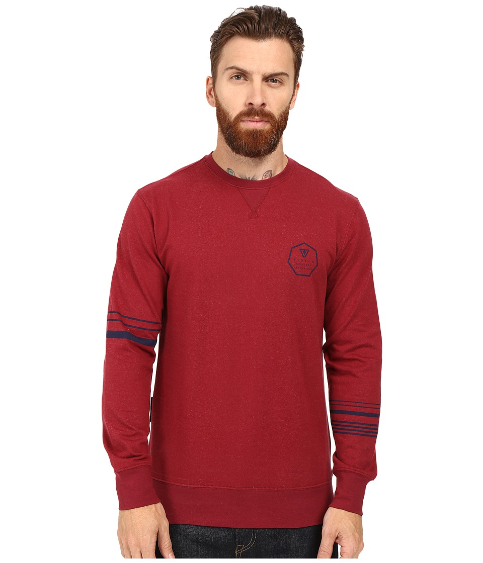 VISSLA - Right Point Fleece Crew (Blood) Men's Clothing