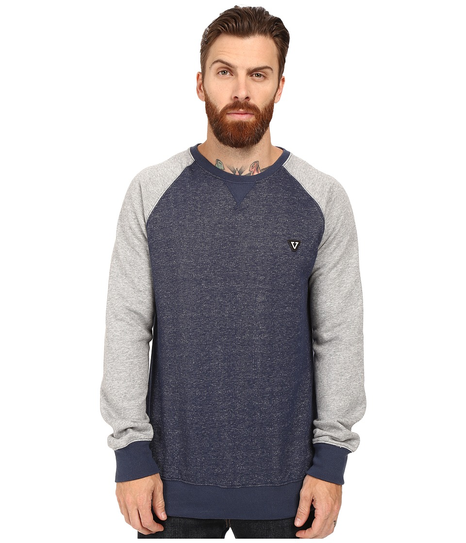 VISSLA - All Sevens Crew Fleece (Dark Navy) Men's Clothing