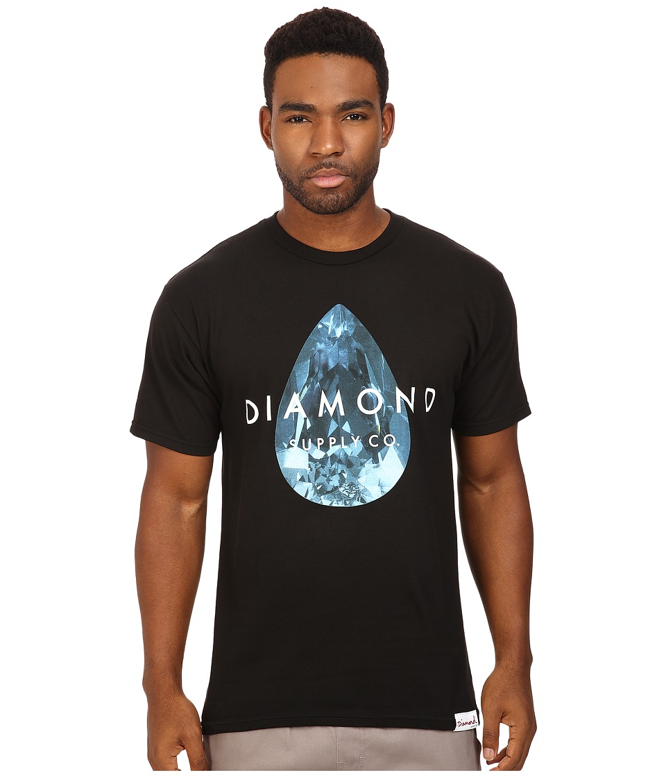 Diamond Supply Co. - Teardrop Tee (Black/Blue) Men's T Shirt