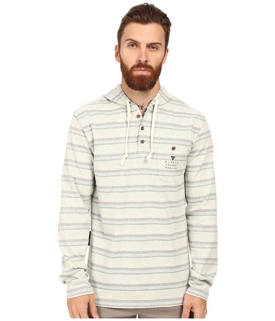 VISSLA - Navigator Pullover Fleece (Bone) Men's Clothing