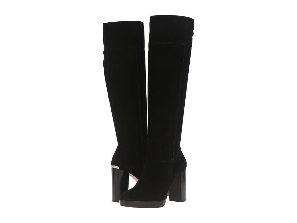 MICHAEL Michael Kors Regina Platform Boot (Black Sport Suede) Women