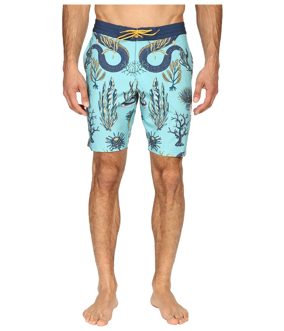 VISSLA - Mystic Abyss 4-Way Stretch Boardshorts 18.5 (Jade) Men's Swimwear