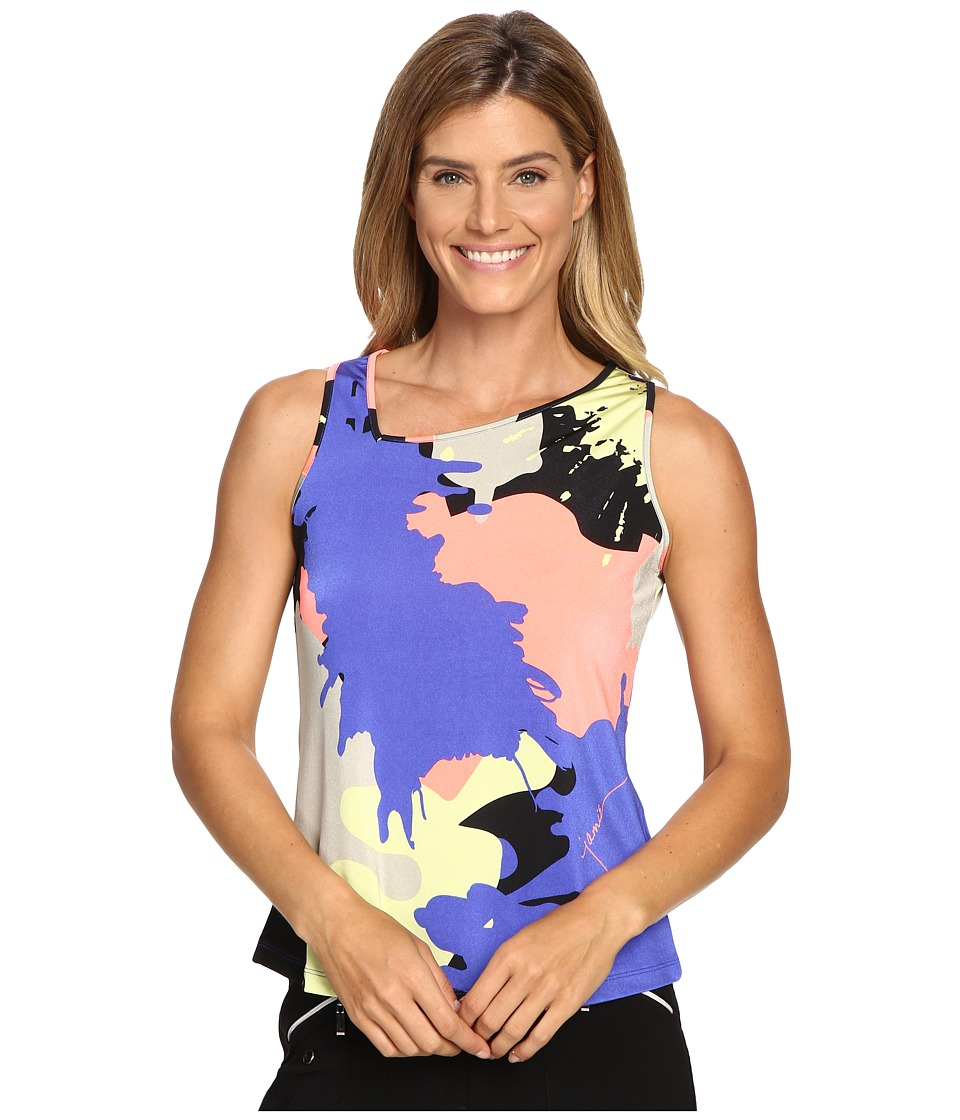 Jamie Sadock - Actif Paintball Print Sleeveless Tank Top (Rhapsody) Women's Sleeveless