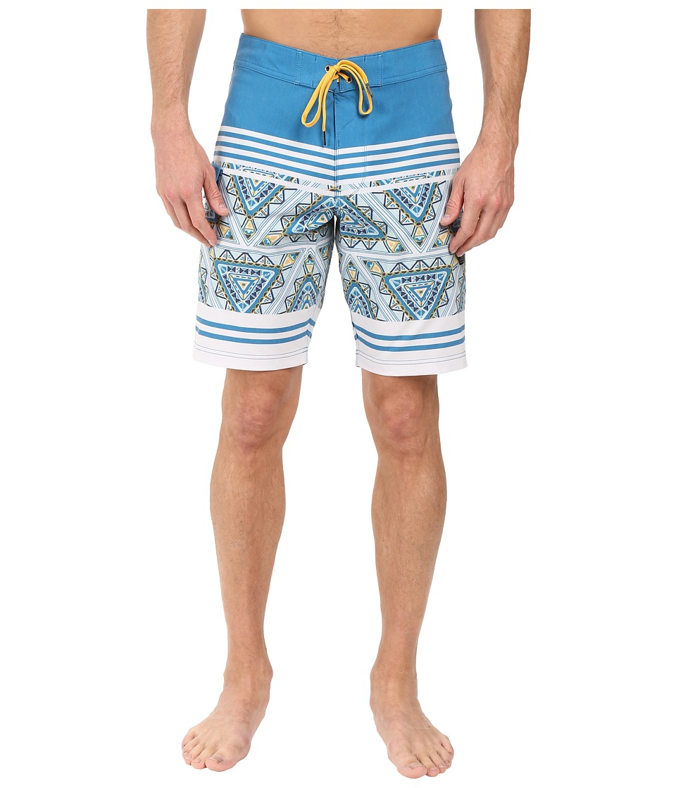 VISSLA - Sinner Point Washed 4-Way Stretch Boardshorts 20 (Fiji Blue) Men's Swimwear