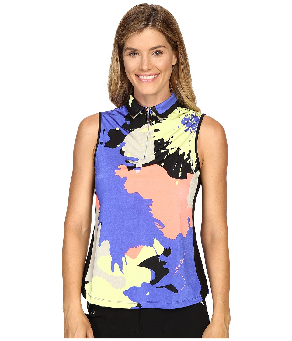 Jamie Sadock - Paintball Print Sleeveless Top (Rhapsody) Women's Sleeveless