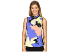 Paintball Print Sleeveless Top