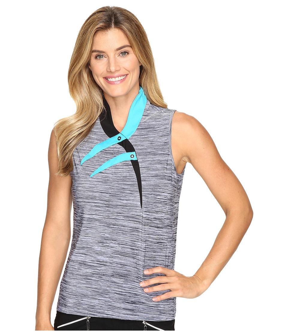 Jamie Sadock - Marled Knit Sleeveless Top (Curasao) Women's Sleeveless