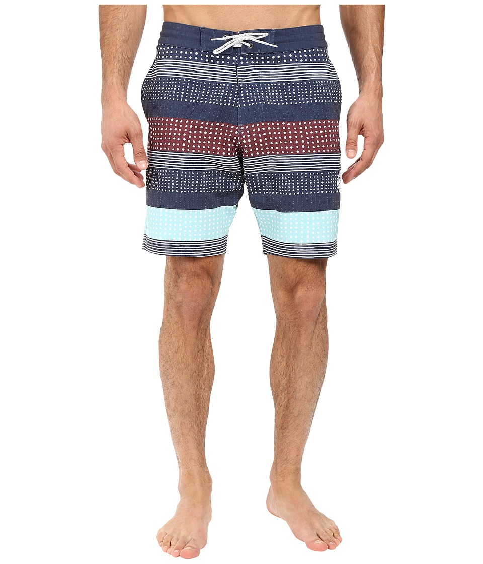 VISSLA - Kookabunga Washed 4-Way Stretch Boardshorts 18.5 (Dark Navy) Men's Swimwear