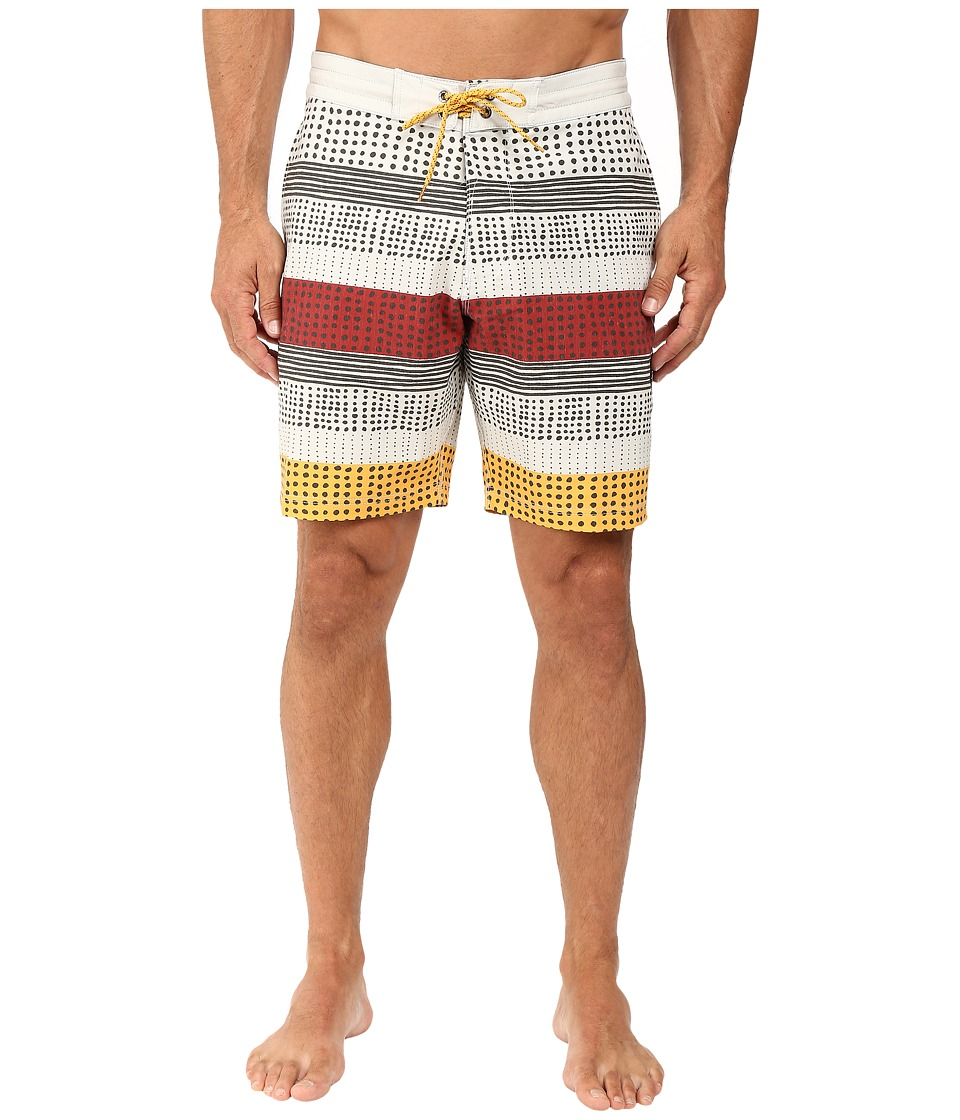 VISSLA - Kookabunga Washed 4-Way Stretch Boardshorts 18.5 (Bone) Men's Swimwear
