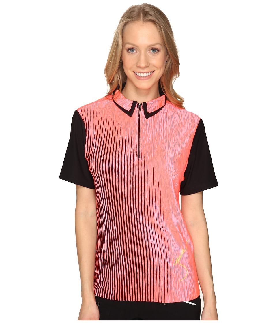 Jamie Sadock - Half Moon Crunchy Print Short Sleeve Top (Nitro) Women's Clothing