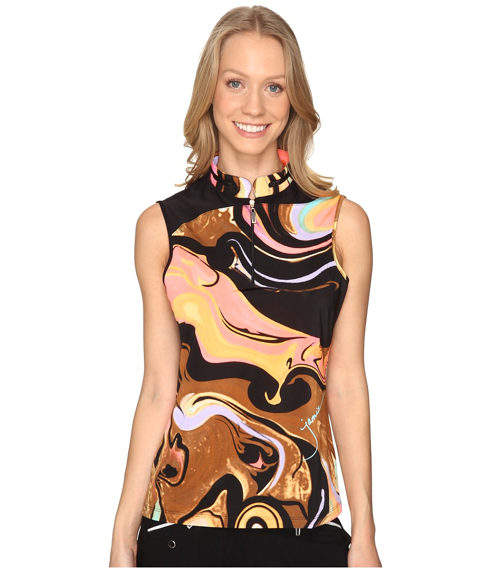 Jamie Sadock - Galaxy Print Sleeveless Top (Nitro) Women's Clothing