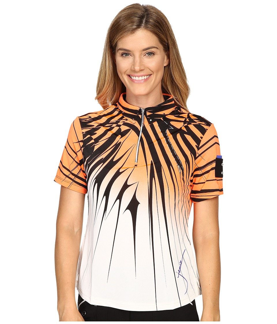 Jamie Sadock - Electricity Print Short Sleeve Top (Radiance) Women's Clothing