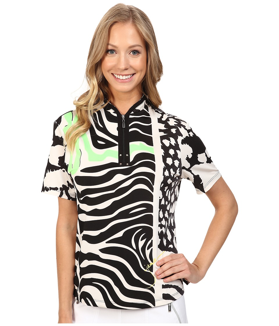 Jamie Sadock - Animal Print Short Sleeve Top (Zen) Women's Clothing