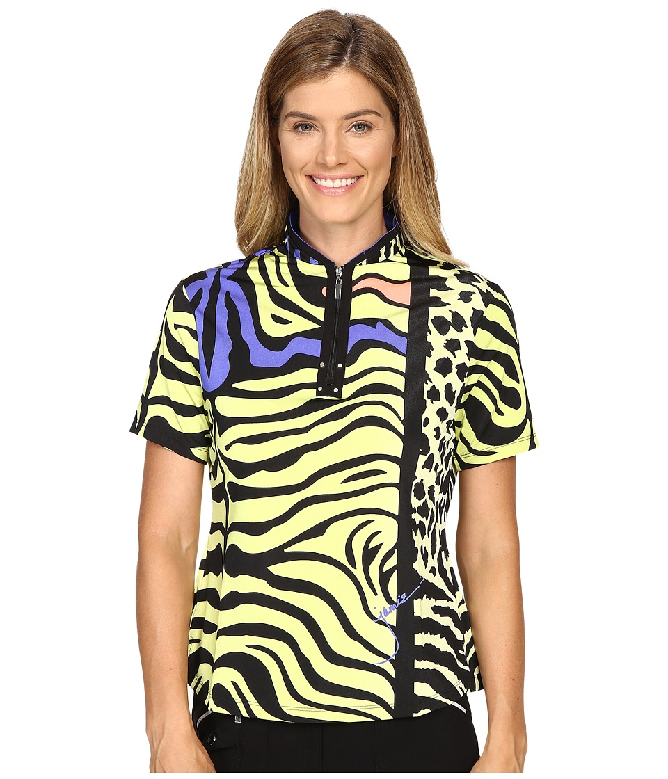 Jamie Sadock - Animal Print Short Sleeve Top (Edo) Women's Clothing