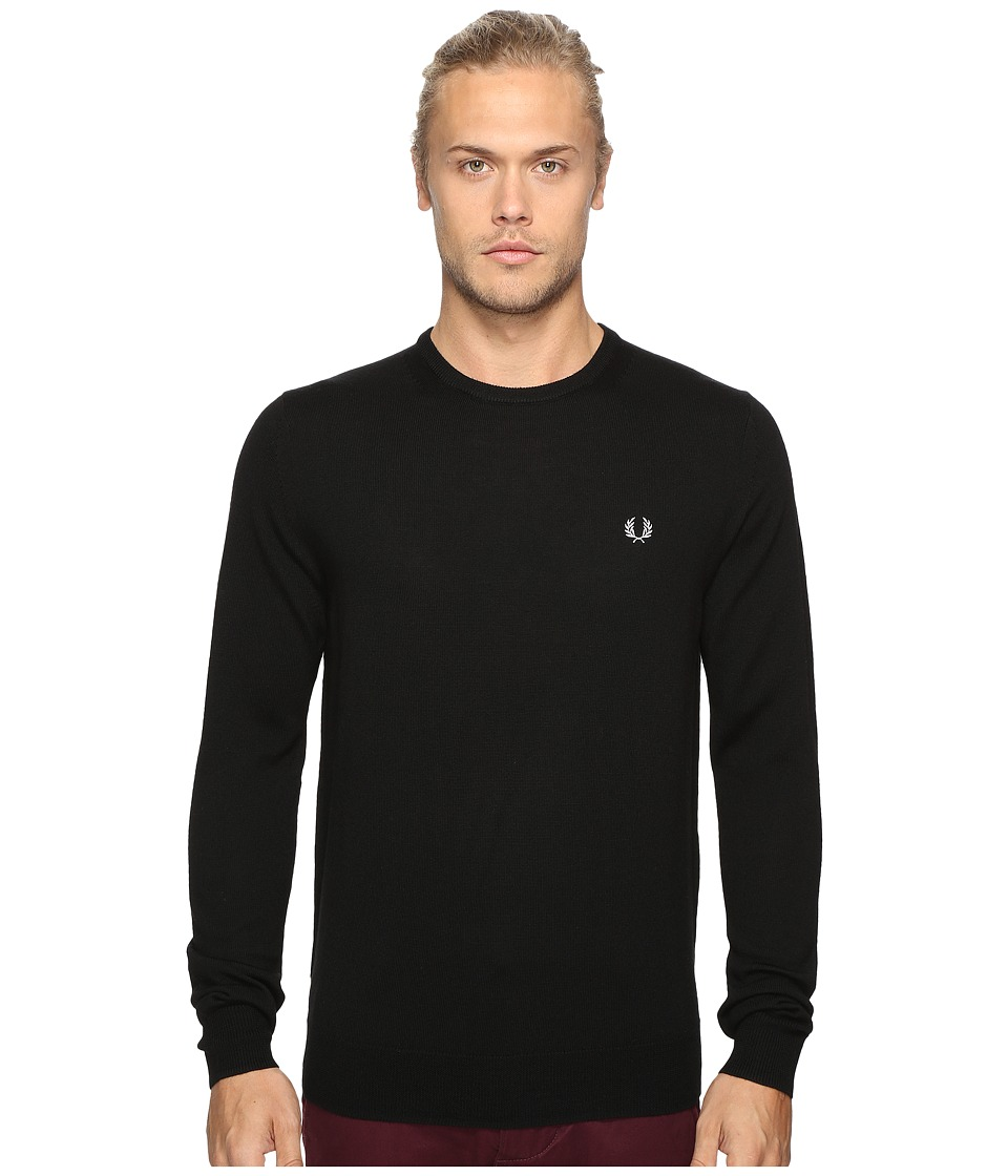 Fred Perry Classic Crew Neck Sweater (Black) Men