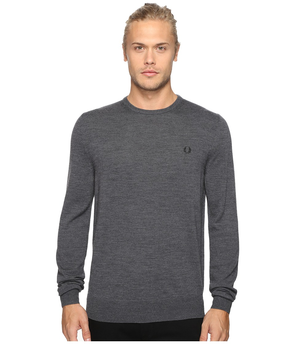 Fred Perry - Classic Crew Neck Sweater (Graphite Marl) Men's Sweater