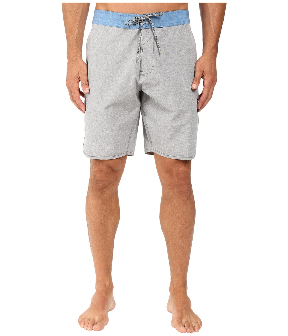 VISSLA - Fin Box 4-Way Stretch Heathered Boardshorts 20 (Phantom) Men's Swimwear