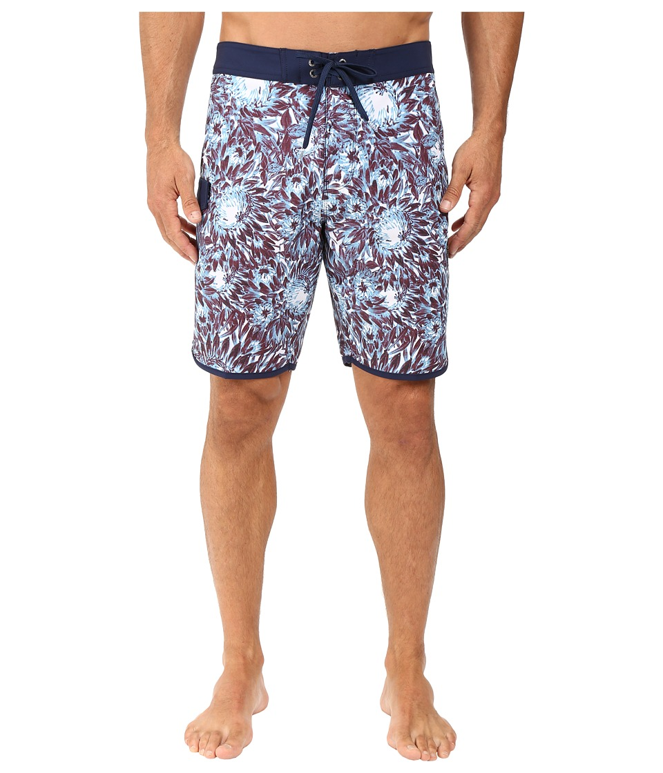 VISSLA - Los Flores Washed 4-Way Stretch Boardshorts 20 (Red) Men's Swimwear