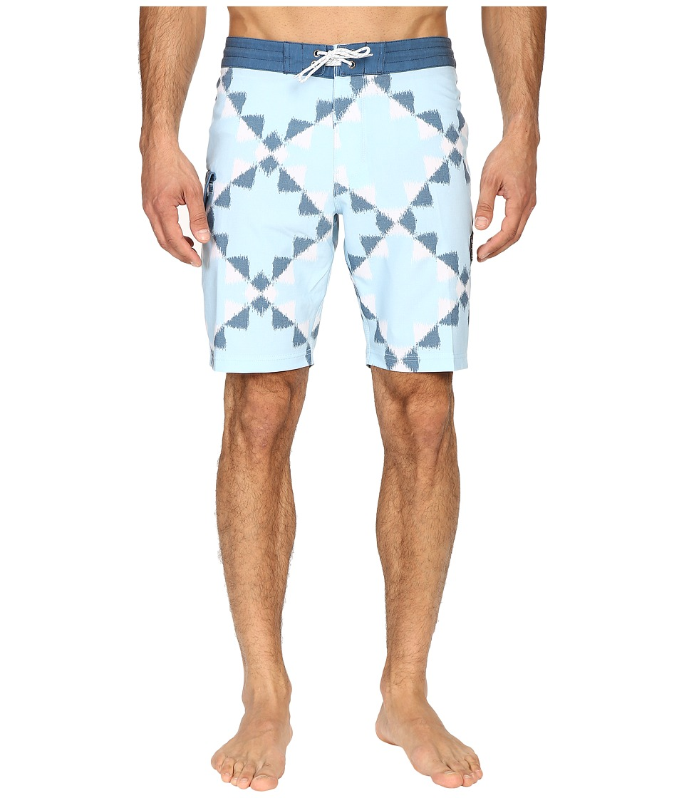 VISSLA - Destination Unknown Washed 4-Way Stretch Boardshorts 20 (Ice Blue) Men's Swimwear