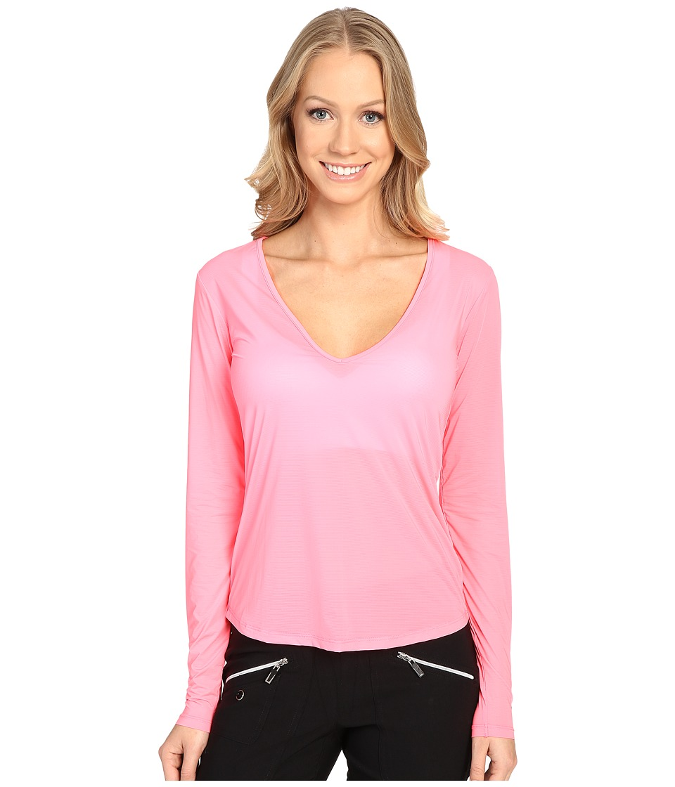 Jamie Sadock - Sunsence Lightweight Long Sleeve Layering Under Garment Top with UVP 30 (Nitro) Women's Long Sleeve Pullover