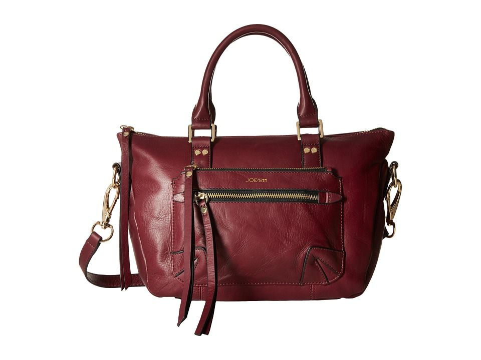 Joe's Jeans - Payton Small Satchel (Wine) Satchel Handbags