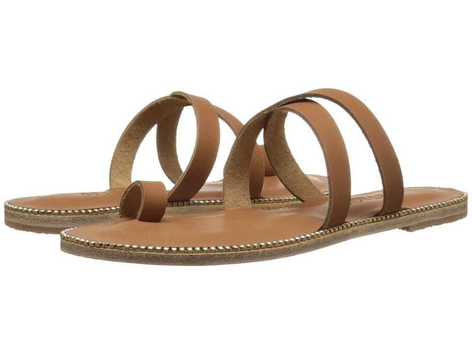 Jerusalem Sandals - Hollywood Blvd - Antika Collection (Tan/Swarovski Rainbow) Women's Shoes