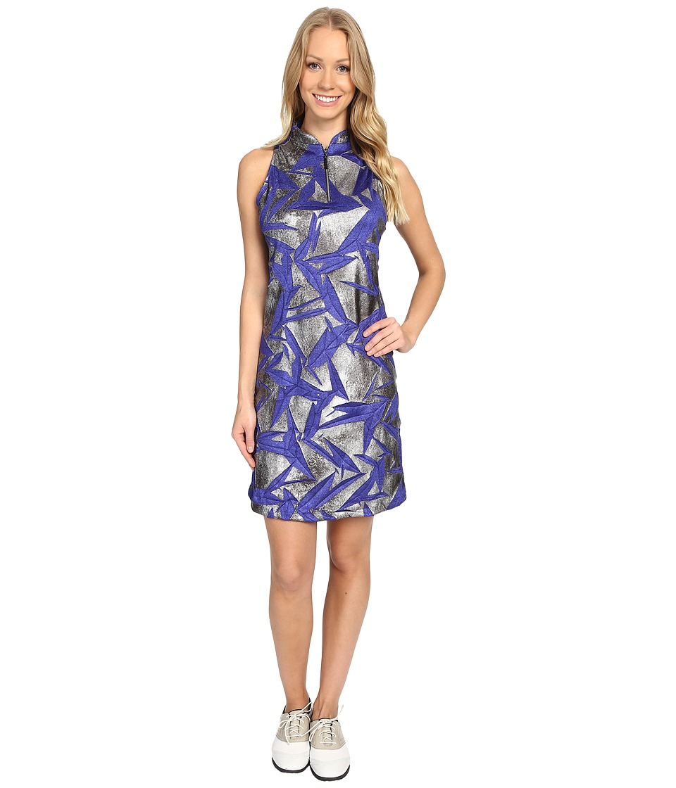 Jamie Sadock - Planet J Print Textured Dress (Rhapsody) Women's Dress