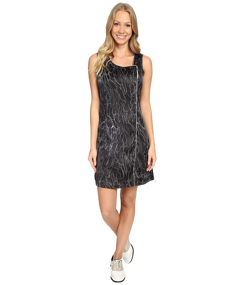 Jamie Sadock - Crackle Print Dress with Pockets (Black) Women's Dress