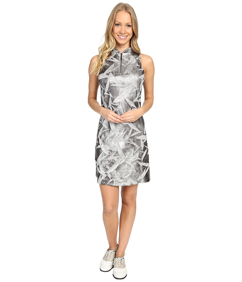 Jamie Sadock - Planet J Print Textured Dress (Black) Women's Dress