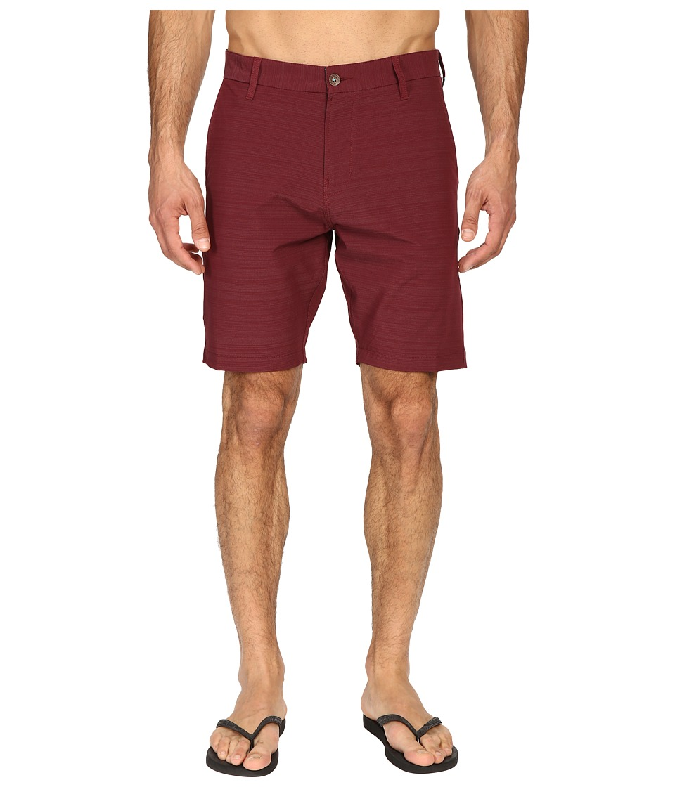 VISSLA - The Ledge 4-Way Stretch Hybrid Walkshorts 19 (Port) Men's Shorts
